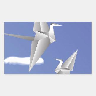 Adesivo Retangular pássaros 78Paper _rasterized