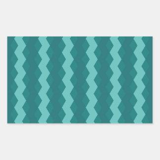 Adesivo Retangular Pattern Blue Stripes - Linhas zigzag
