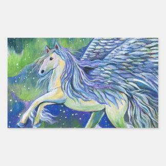 Adesivo Retangular Pegasus na luz do norte