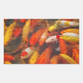 Adesivo Retangular Peixes