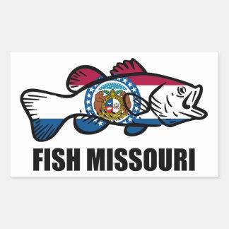 Adesivo Retangular Peixes Missouri