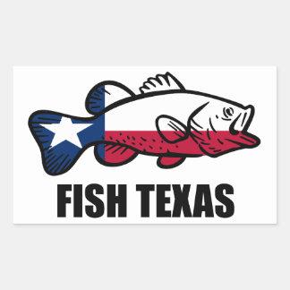 Adesivo Retangular Peixes Texas