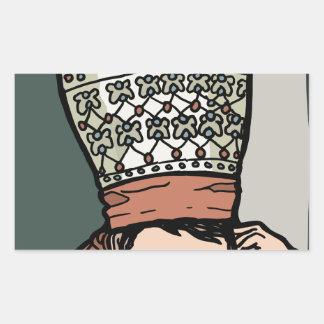 Adesivo Retangular Pensamento asiático central da mulher (no chapéu)