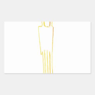 Adesivo Retangular Pente egípcio da gazela