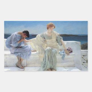 Adesivo Retangular Pergunte-me não mais por Alma Tadema, romanticismo