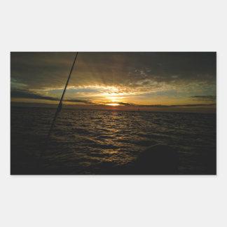 Adesivo Retangular Pesca no por do sol