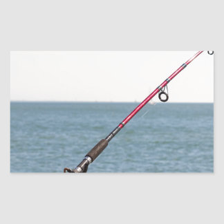 Adesivo Retangular Pesca Rod no cais em San Francisco Bay