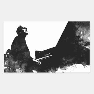 Adesivo Retangular pianista