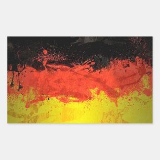 Adesivo Retangular Pinte a bandeira de Alemanha