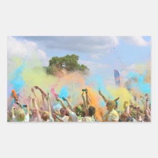 Adesivo Retangular Pinte o festival