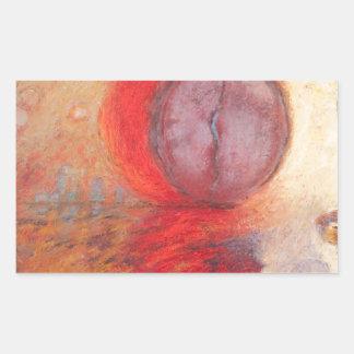 Adesivo Retangular Pintura a óleo do abstrato da dança do fogo