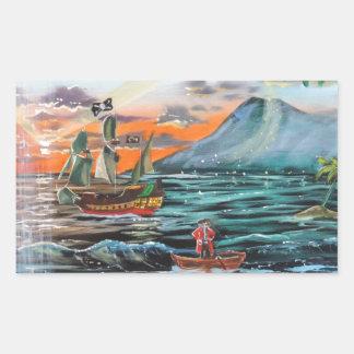 Adesivo Retangular Pintura de Bell do funileiro da angra do gancho de