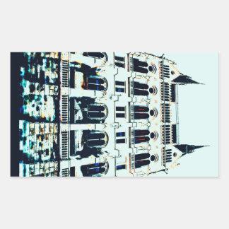 Adesivo Retangular Pintura húngara do parlamento