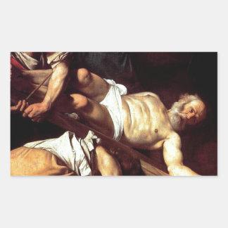 """Adesivo Retangular Pintura original """"La crocifissione di s Pietro """""""