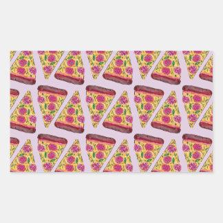 Adesivo Retangular pizza floral
