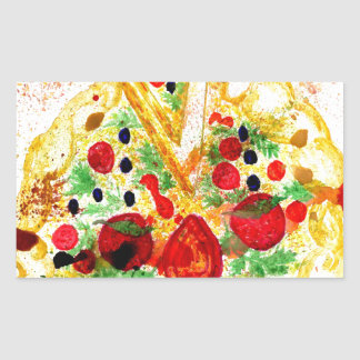 Adesivo Retangular Pizza saboroso