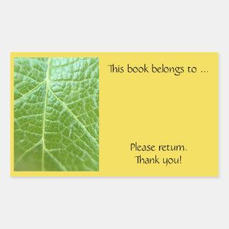 Adesivo Retangular Placa de livro da folha simples
