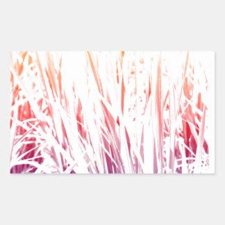 Adesivo Retangular Planta de arroz