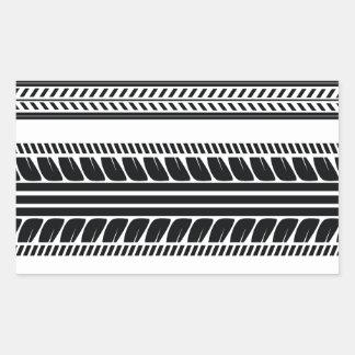 Adesivo Retangular pneu dos impressões