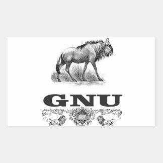 Adesivo Retangular poder do gnu