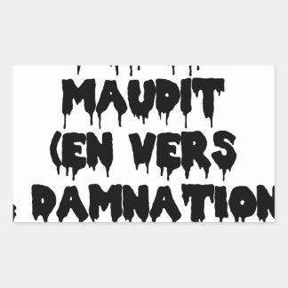 Adesivo Retangular Poeta maldiz (em PARA E DAMNATION) - Jogos de