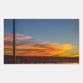 Adesivo Retangular Por do sol da baía de Liverpool