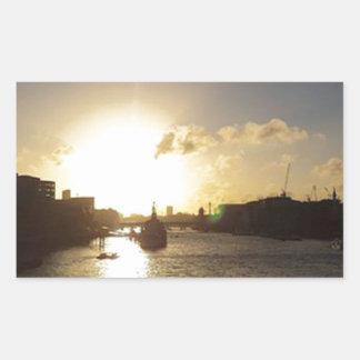 Adesivo Retangular Por do sol de Londres