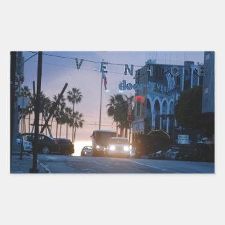 Adesivo Retangular por do sol de Veneza