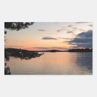 Adesivo Retangular Por do sol sobre o lago Maine Millinocket da ilha