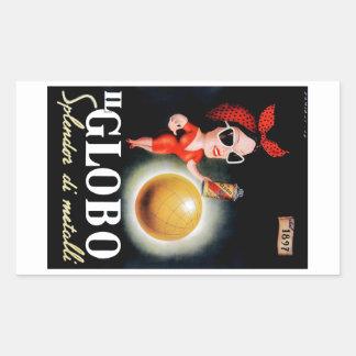 Adesivo Retangular Poster 1949 italiano da propaganda do IL Globo