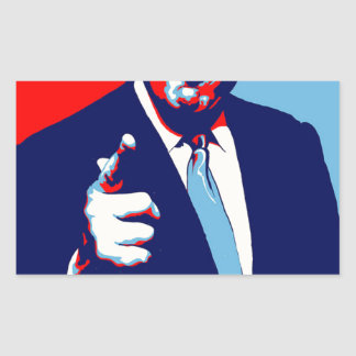"""Adesivo Retangular Poster 2017 da paródia do """"medo"""" de Donald Trump"""
