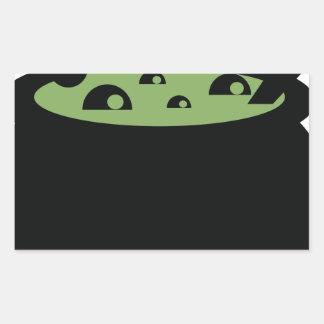 Adesivo Retangular Pote preto e verde do cozinhar