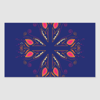 Adesivo Retangular POVOS do azul dos elementos do design