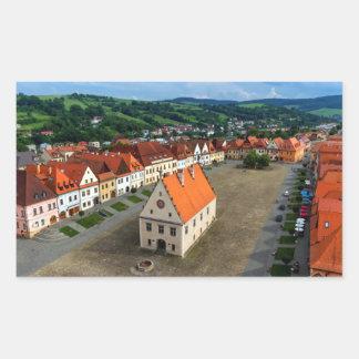 Adesivo Retangular Praça da cidade velha em Bardejov, Slovakia