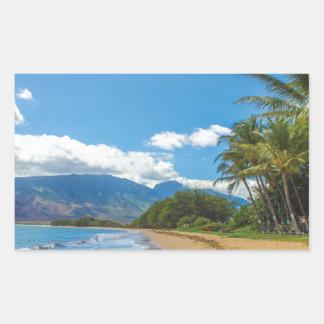 Adesivo Retangular Praia em Havaí