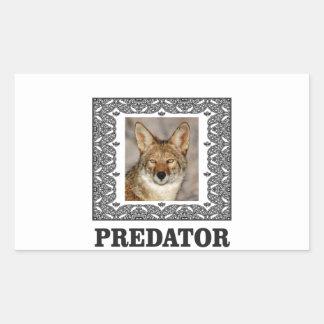 Adesivo Retangular Predador afiado