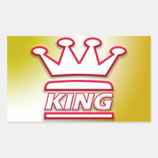 Adesivo Retangular Presente do rei   para ele