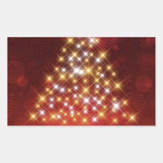 Adesivo Retangular Presentes do Natal