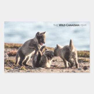 Adesivo Retangular Primavera - Fox ártico