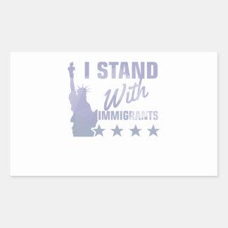 Adesivo Retangular Pro camisa da estátua da liberdade da imigração