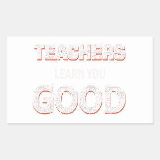 Adesivo Retangular Professores que vão aprendê-lo bom