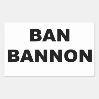 Adesivo Retangular Proibição Bannon