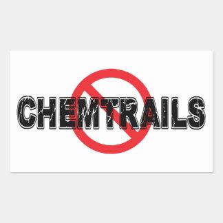 Adesivo Retangular Proibição Chemtrails