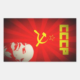 Adesivo Retangular propa vermelho comunista de União Soviética lenin