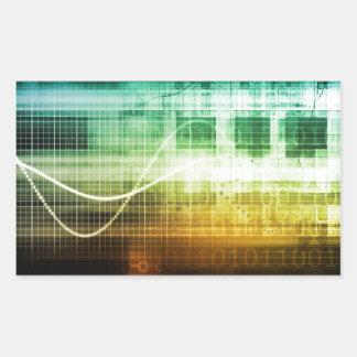 Adesivo Retangular Protecção de dados e exploração da segurança do
