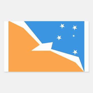 Adesivo Retangular Província da terra do fogo da bandeira de Terra do