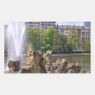 Adesivo Retangular Quadrado de Marie-Louise em Bruxelas, Bélgica
