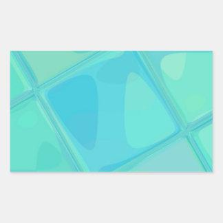 Adesivo Retangular QUADRADO espelhado recreado por Robert S. Lee