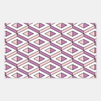 Adesivo Retangular quartzo cor-de-rosa da geometria 3d