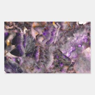 Adesivo Retangular quartzo roxo